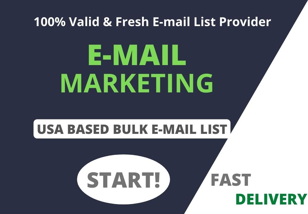 I Will Provide 1K USA Based Verified Bulk E-mail List For E-mail Marketing