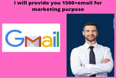 I will provide 1500+email for marketing purpose