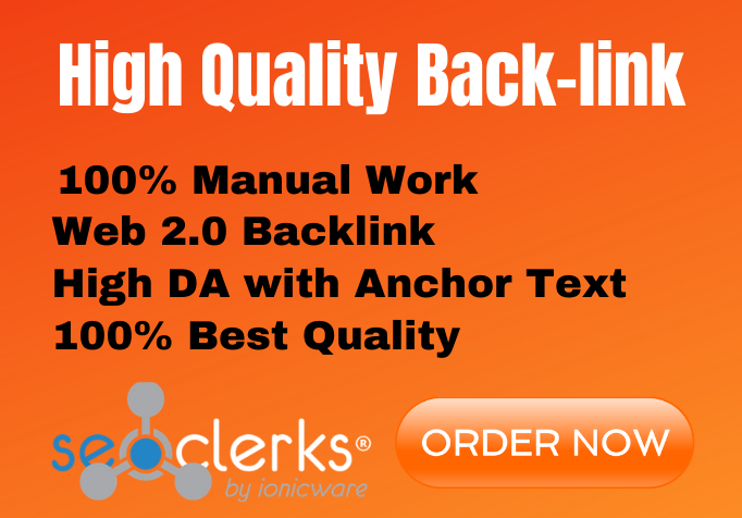 I will create contextual backlinks by authority web 2 0 websites to rank your site