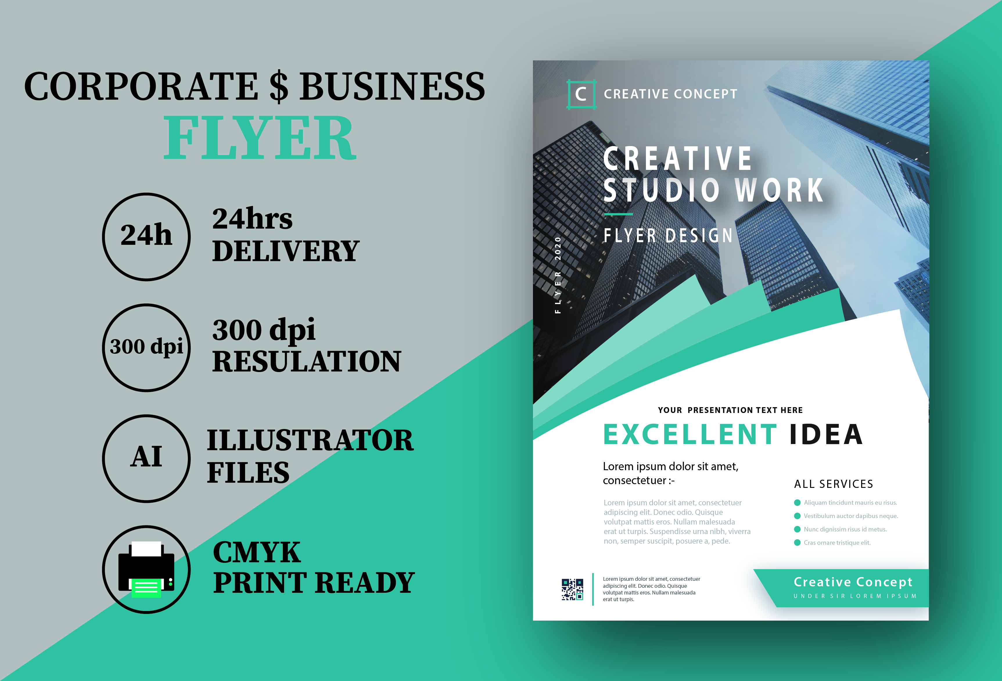 I will design your corporate and business flyer