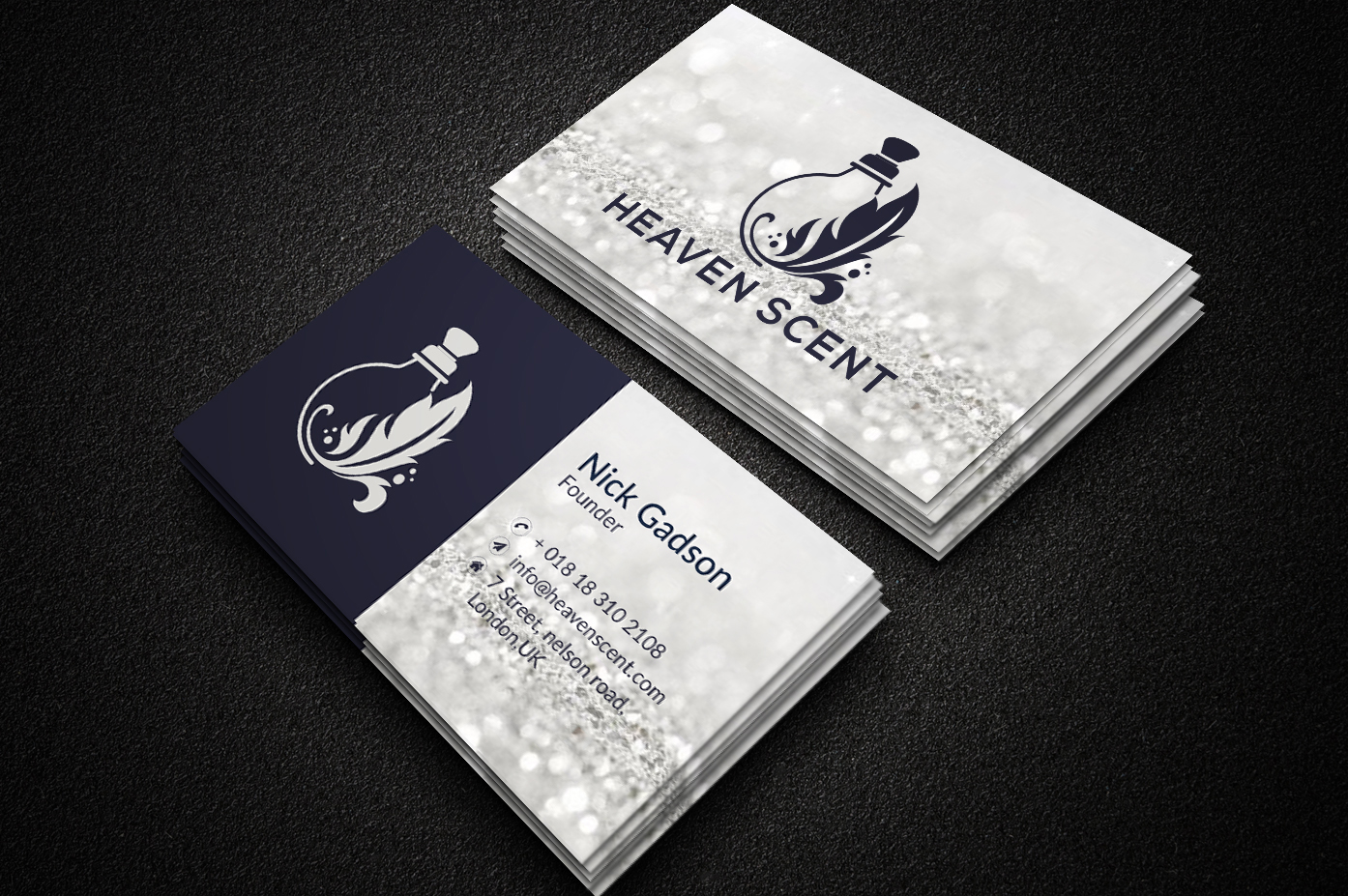 I will create custom luxury business card design