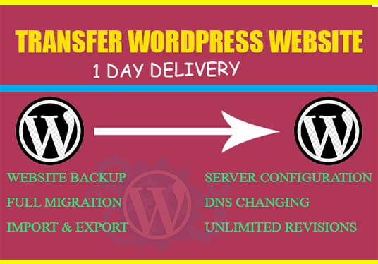I will migrate or transfer your WordPress website within 24 hours