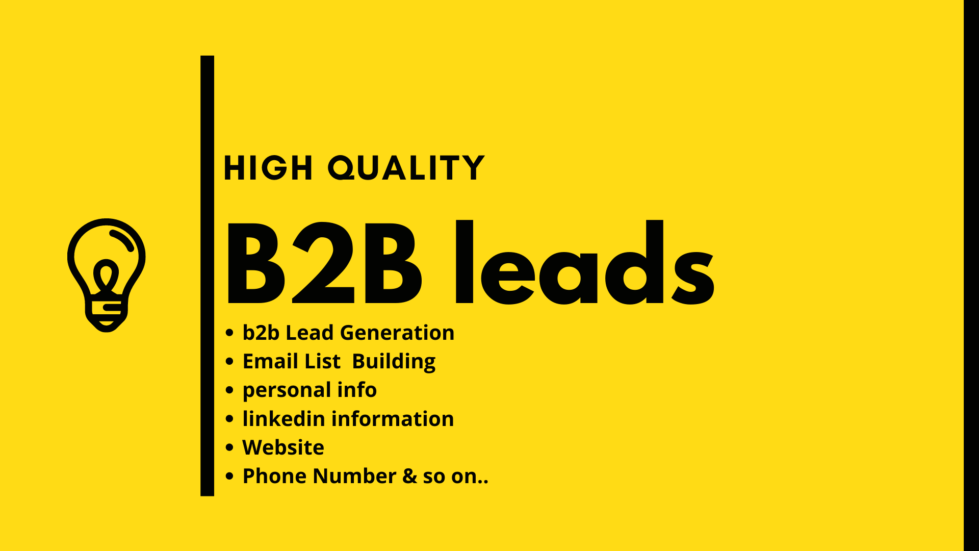 I will provide 50 valid b2b leads within 1 Day