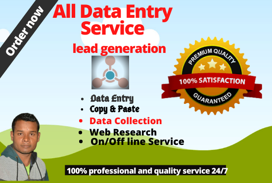I will do professional Data Entry and lead generation expert