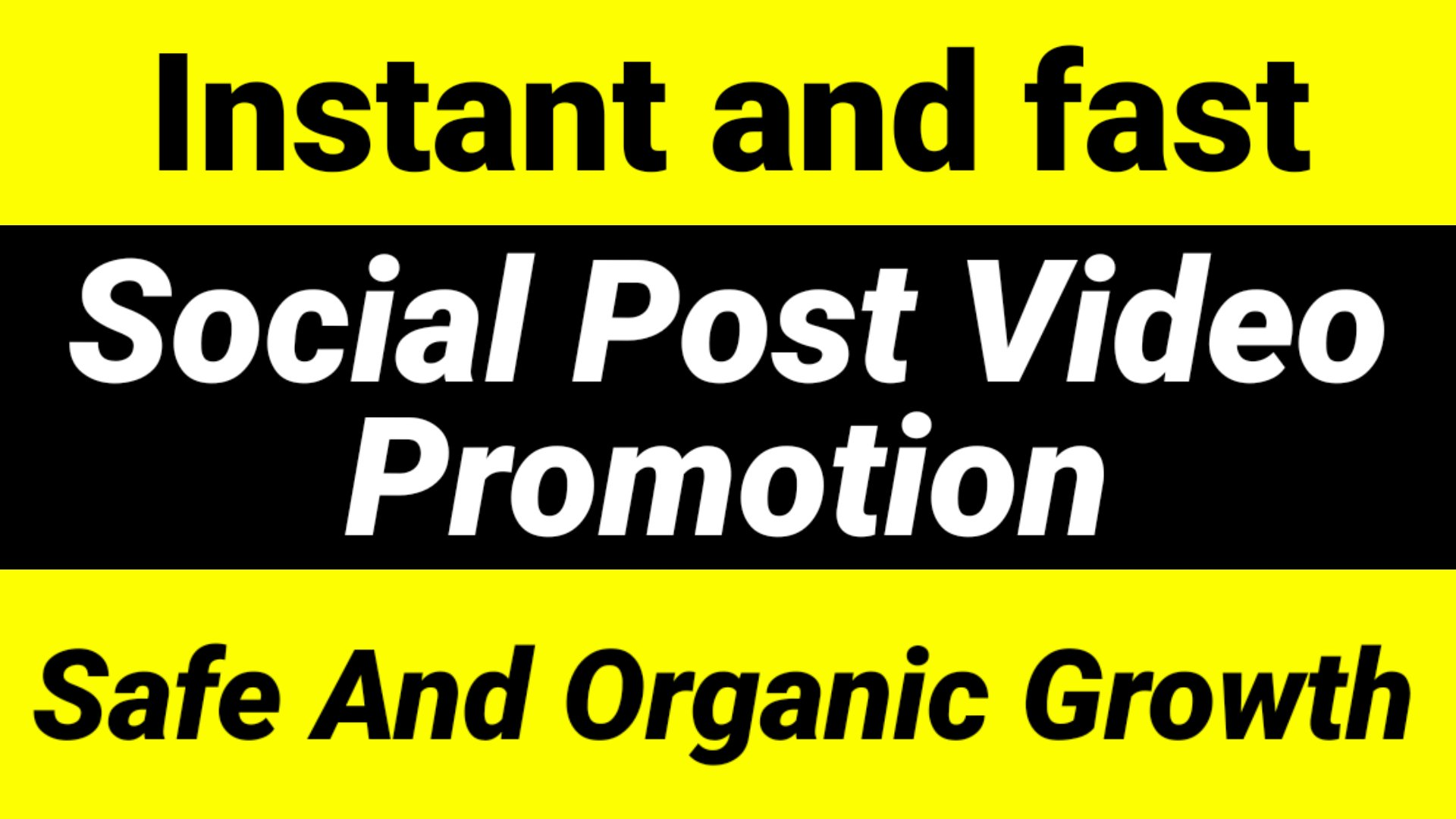 Instant Social Video and Promotion fast