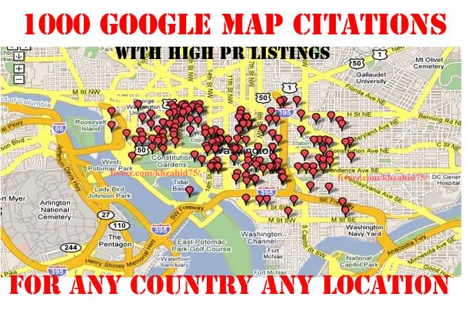 I will create local listings with 1OOO google map citations
