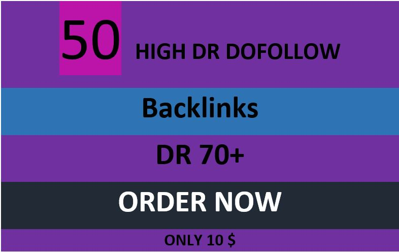 i will do 53 dofollow dr backlink for your website to rank high
