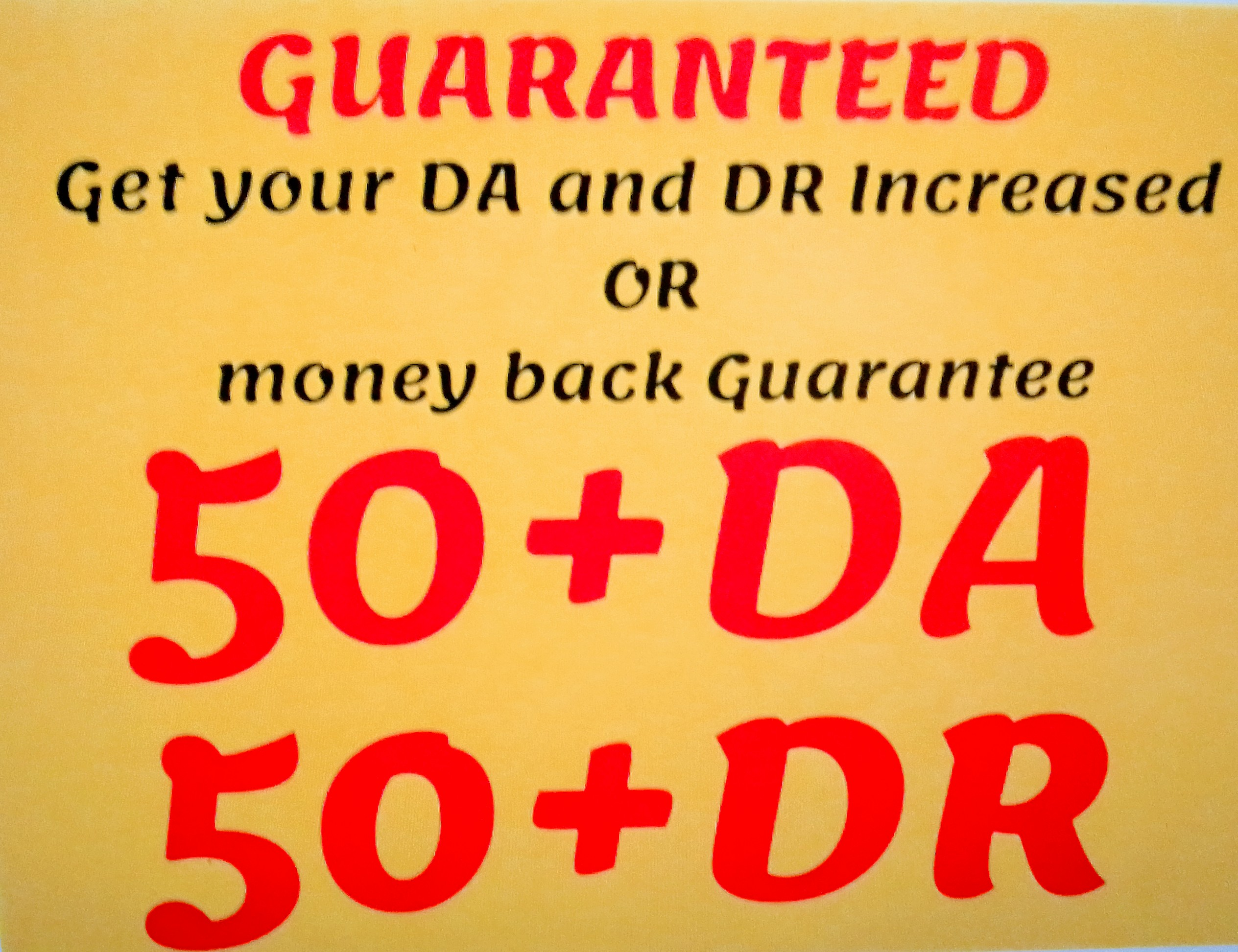 I will do mix 100 backlink with 50+ da and 50+ Dr backlink for your website