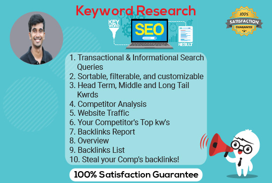 I Will Research and Best SEO Keyword find in your website.