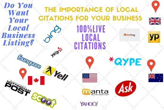 I will do live local citations manually done for local business