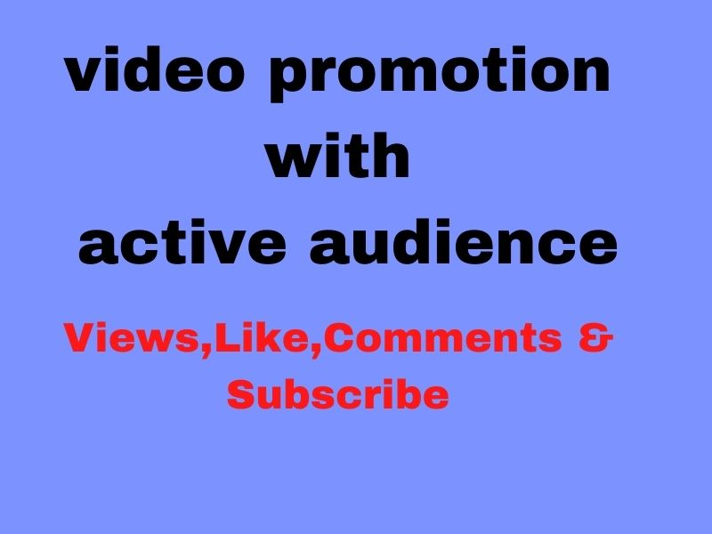 video promotion with active audience