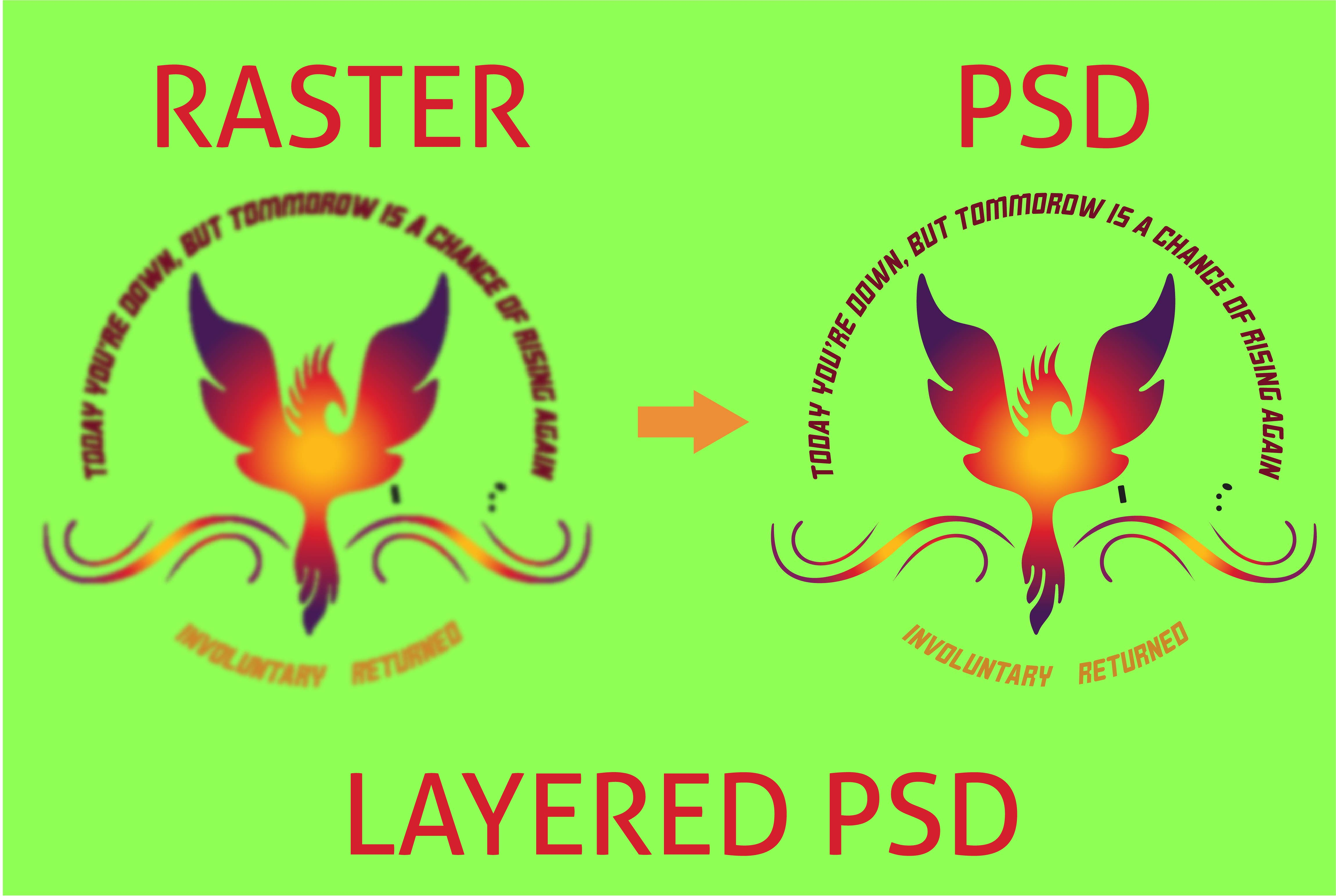 I will convert PNG or JPG to PSD, AI,  PDF or CDR