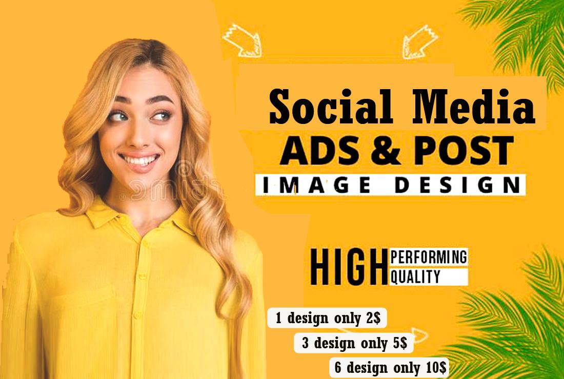 I will create social media post or ads design