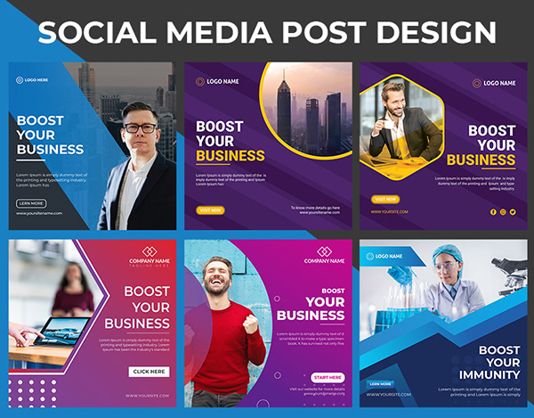 I will Design Social media post for you business or brand.
