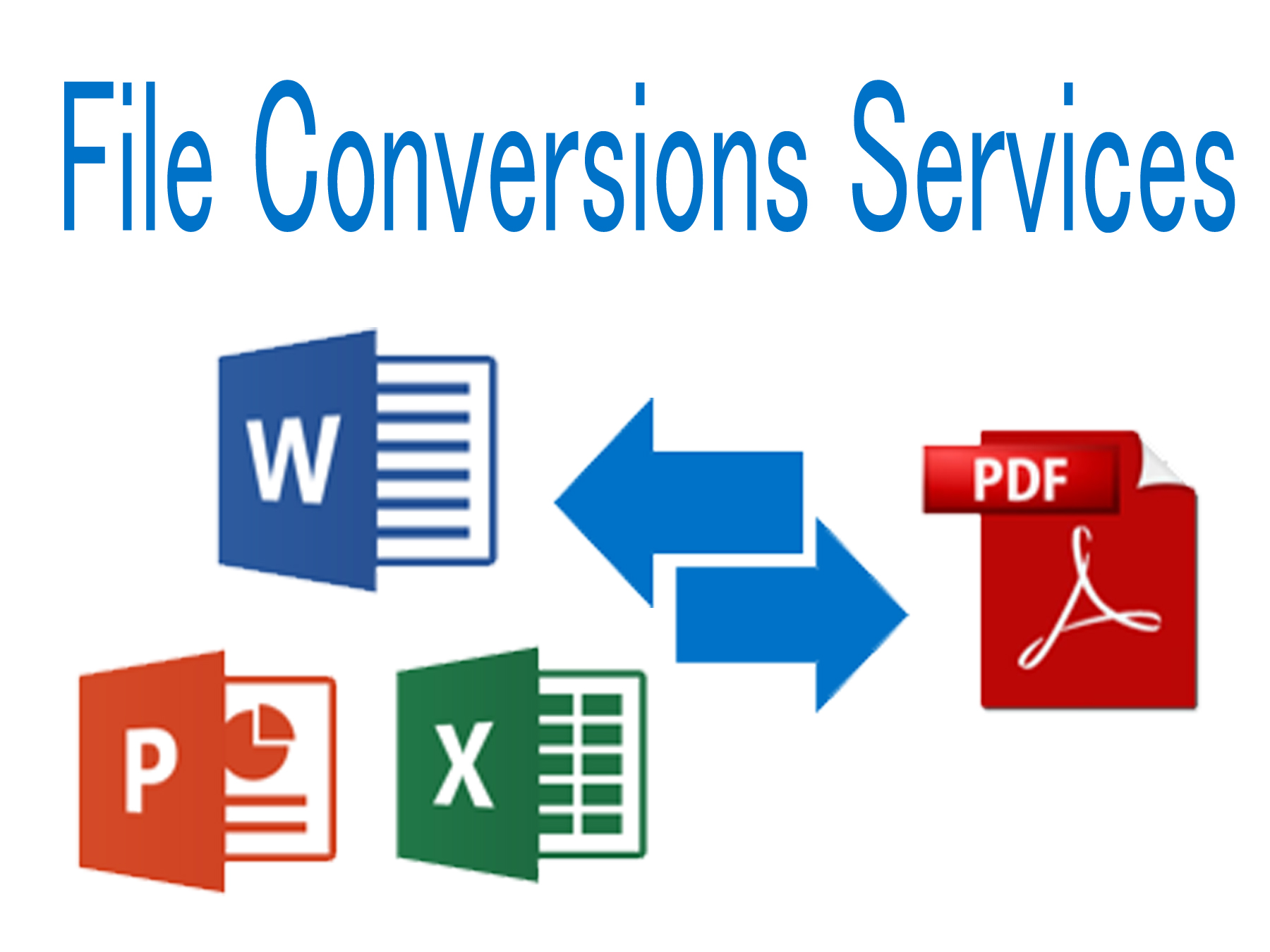 Professional File Conversions Services.