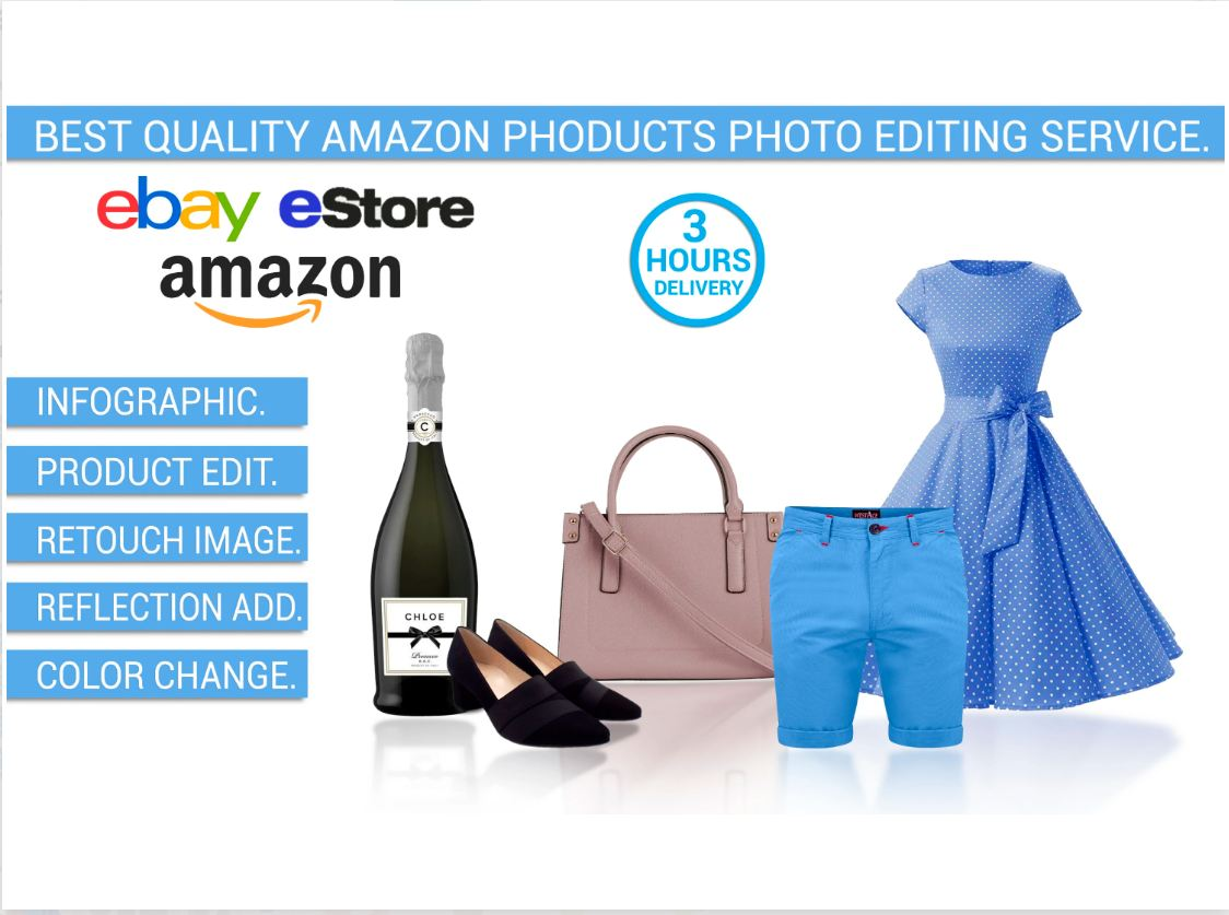 I will do amazon product Image editing,  retouch,  background remove