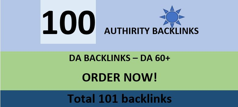 i will create da 60+ 100 backlink for your site.