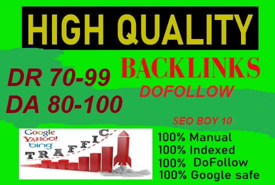 I will create a total of 40 special backlinks for your website rank DA 20 and 20 DR