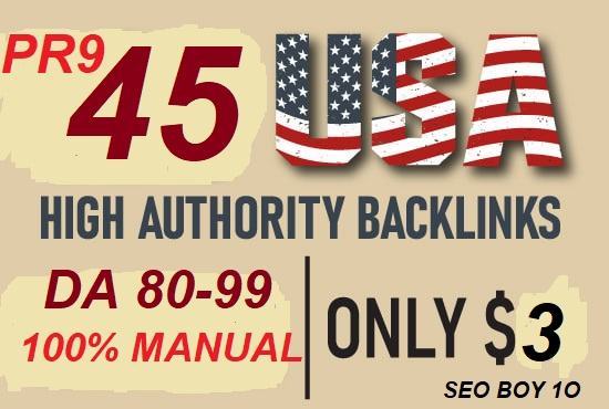I will boost your google ranking with USA pr9 high authority DA seo profile backlinks