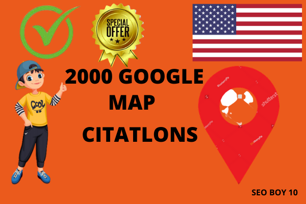 I will create 2000 local google map point citations