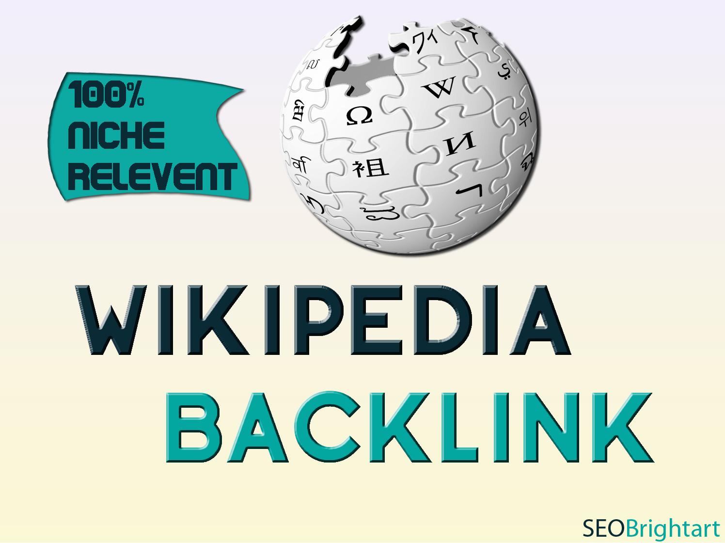 Overruling Wikipedia backlink 100 percent Niche relevant
