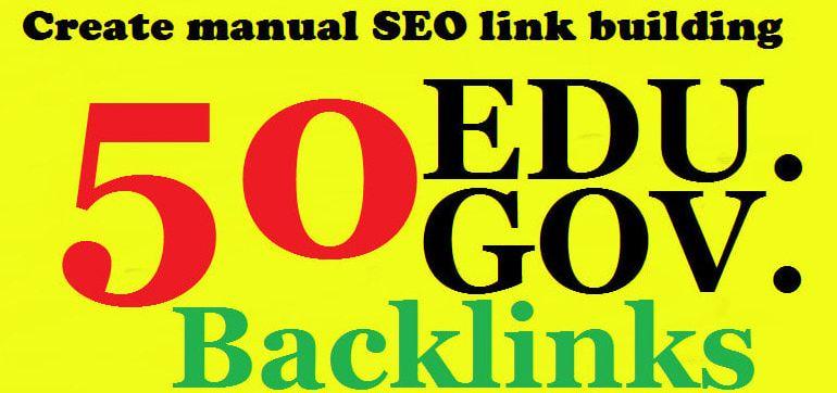 I will do 50HQ edu. gov. link building & backlinks
