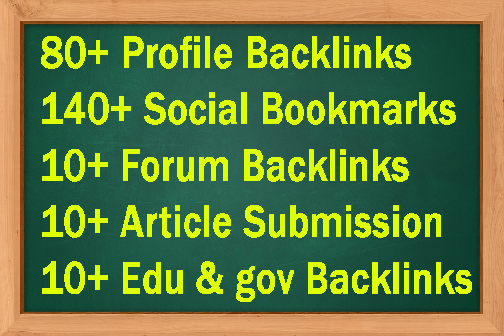 Manually Create 250+ SEO Backlinks with Forum Posting,  Article Submission Edu gov Backlinks