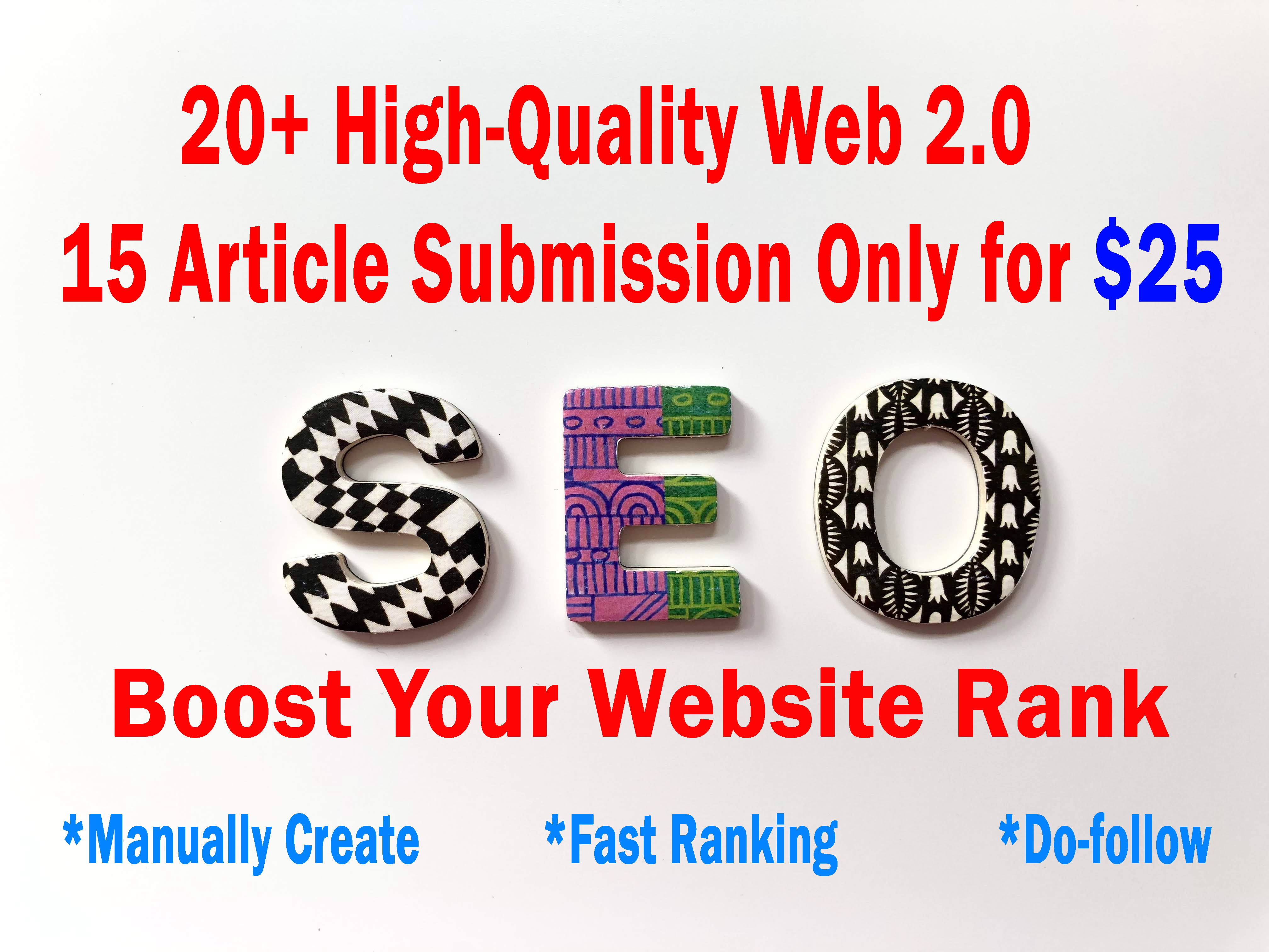 20 web 2.0 & 15 article submission including picture and unique article 25