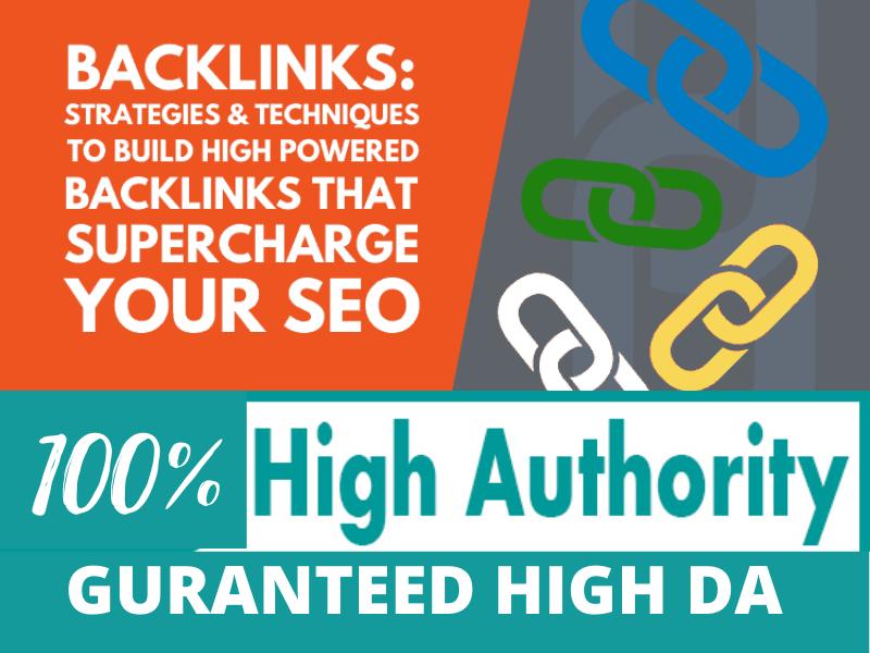 100 guaranteed high da seo backlinks
