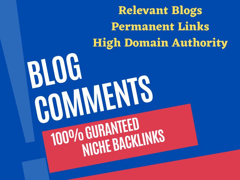 I Will do 100 Blog Comments & Relevant Backlinks On High DA