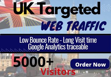 5000+ UK Keyword Targeted Long Visit time Web Traffic