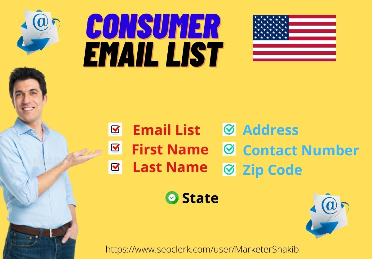 5K Verified USA Based Consumer Email list for Superb Email Marketing