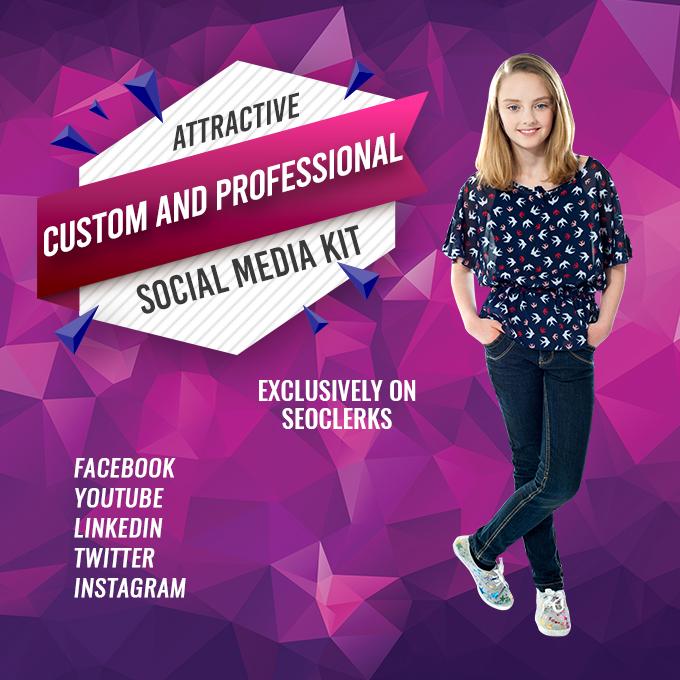 I will design attractive social media kit.