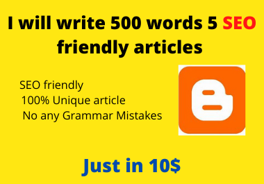 I will write 500 words 5 articles