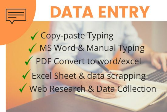Do professional data entry and data collection and all types format conversion