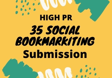 I will best 35 social bookmarking on high PR backlinks
