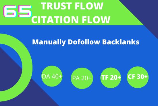 do 65 high trust flow citation flow backlinks on high da pa