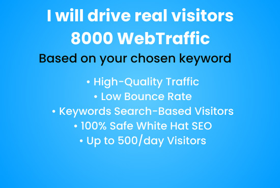 I will send 8000 USA traffic to your website or amazon store