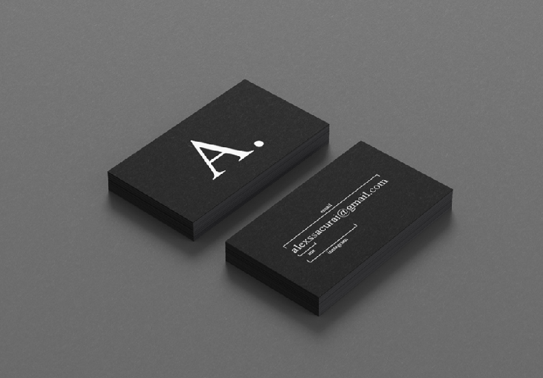 I will create minimalist business card for you