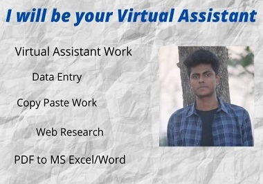 I will be your perfect virtual assistant for any kind of work