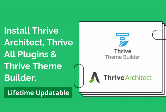 Install thrive architect,  thrive plugins,  thrive theme builder using Agency license