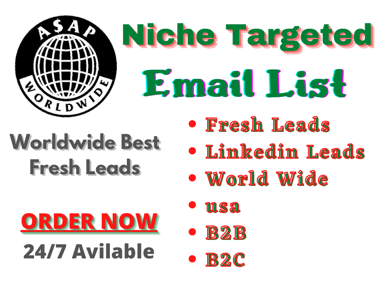 I Will Provide you 1000 Bulk Cold Email List