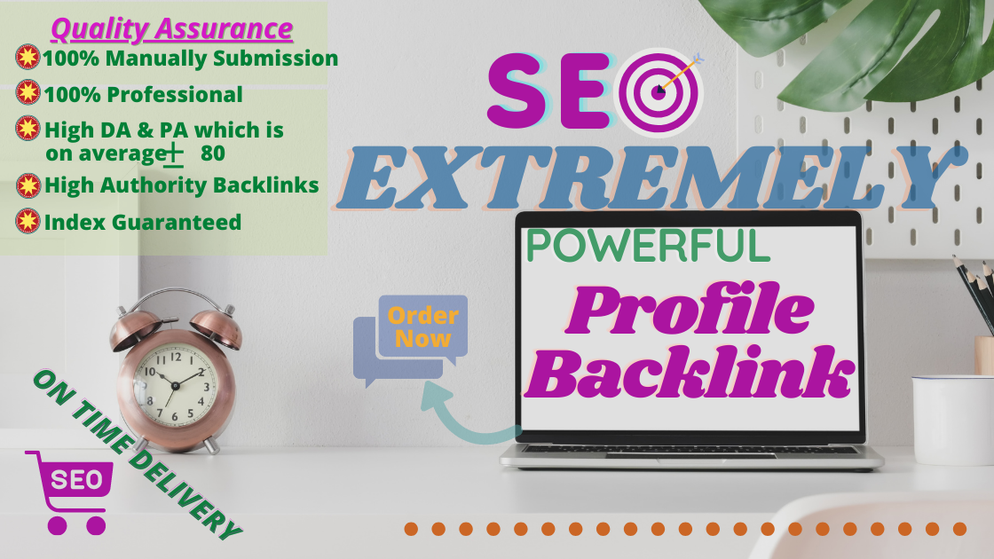 30 High Quality 70+ DA Profile Backlinks Manually submission