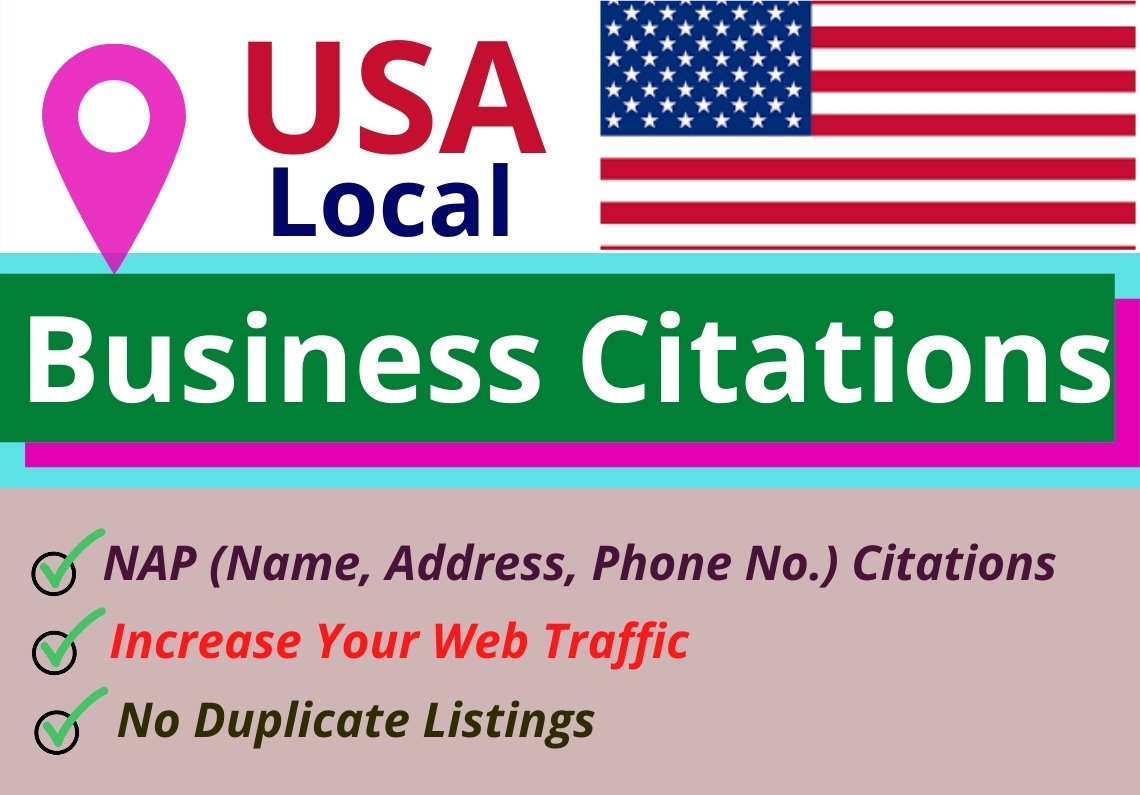 Get 60 Manual Listing USA Local Business Citations