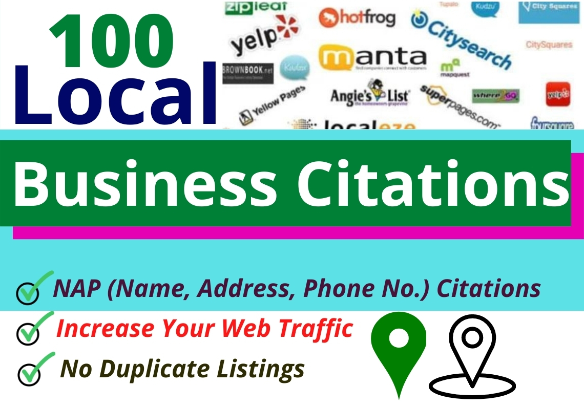 I will do 100 local citations or local listings of any country