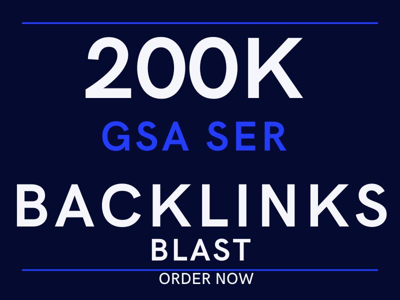 do 200k GSA ser backlinks blast for offpage SEO ranking