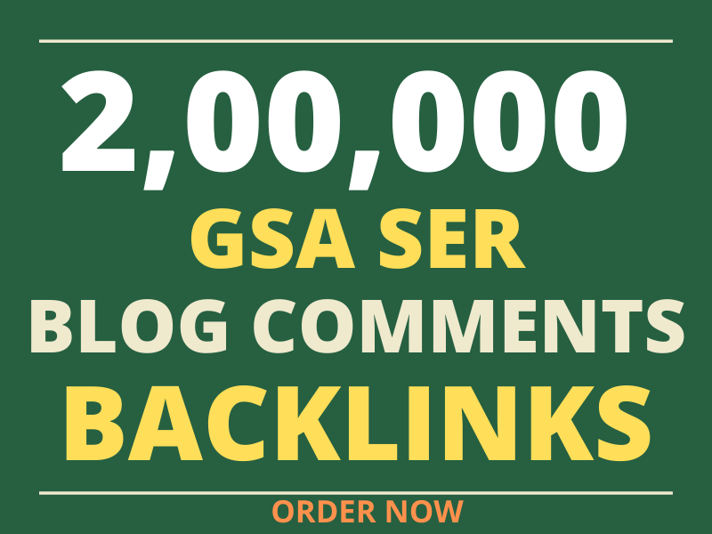 do 200k gsa offpage seo blog comments backlinks for top ranking