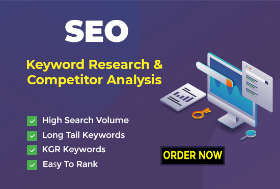 keyword research and competitor analysis for your niche