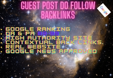 I will write and publish guest post for Google ranking.