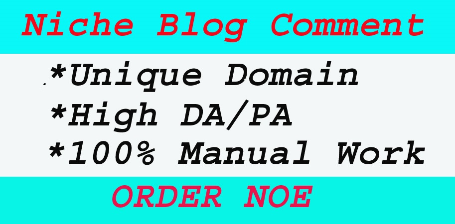 I will provide 60 + niche relevant manual dofoll0w blog comment backlinks